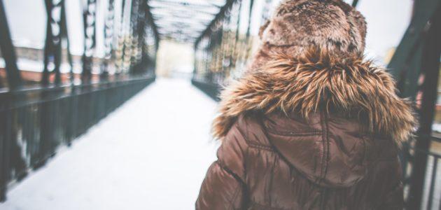 Girl in Winter Fashion Coat